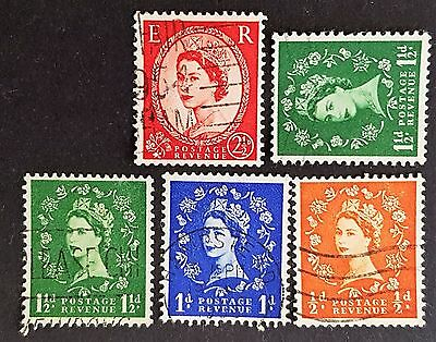 UK Great Britain GB 1950's Watermark Varieties Fine Used Stamps Collection Lot