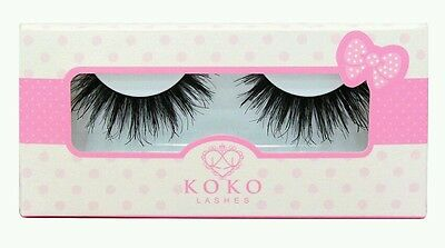 *FLASH SALE* QUEEN B Lashes GENUINE eyelashes by Koko Lady Moss UK SELLER