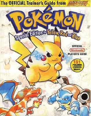 Pokemon Yellow Red Blue Special Pikachu Edition trainer's guide Digital E.  book