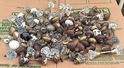 Vintage Architectural Salvage Door Knobs Lot Of 100 Glass, Brass and Steel