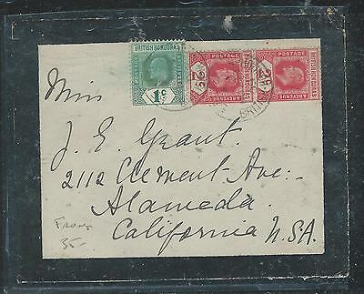 British Honduras  (P2006B) Front Mourning Cover Ke 2Z Pr+ 1C  . Front Only