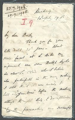 Sarawak  (P2408B) 1908 Charles Vyner Brooke Complete Letter, 1St And 4Th Page Sh