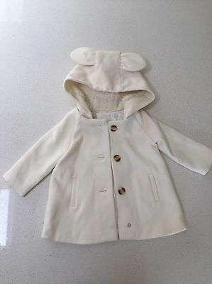 Size 0 Baby Girls White **BARDOT JUNIOR** Winter Jacket. BRAND NEW WITH TAGS