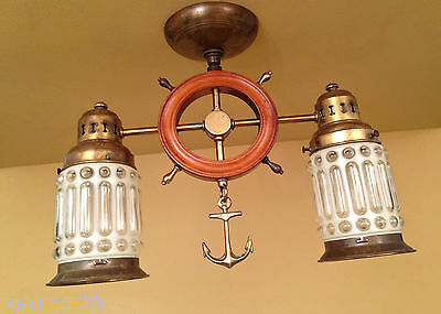Vintage Lighting extraordinary 1930s maritime styled fixture