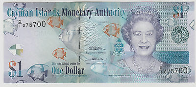 2010 $1 One Dollar Cayman Islands Monetary Authority Note Uncirculated 700