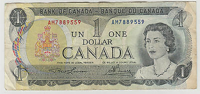 1973 $1 One Dollar Bank Of Canada  Note Circulated 559
