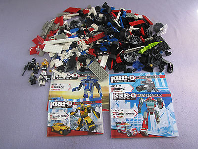 KRE-O CREATE IT TRANSFORMERS x 4 SETS incomplete