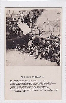 "Vintage Postcard ""The Irish Emigrant"" No1. early1900s by (Jas. Bamforth Ltd)"