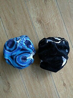 2 x Baby Beehinds Newborn Nappies (MCN) Petite-All-in-II Size Small