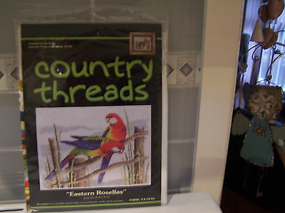 Eastern Rosellas By Country Threads Counted Cross Stitch Kit Brand New In Pkt