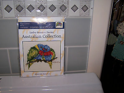 Rainbow Lorikeets Dmc Counted Cross Stitch Kit Brand New In Packet