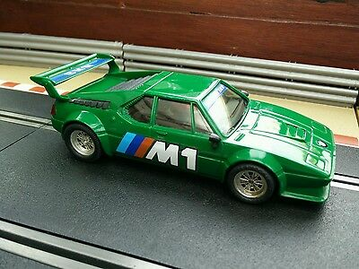 Spanish Scalextric BMW M1 in Green 1970s 1980s SCX Exin - Made in Spain GTO