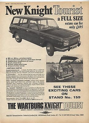Wartburg Knight Tourist Car Original Advertisement removed from a magazine