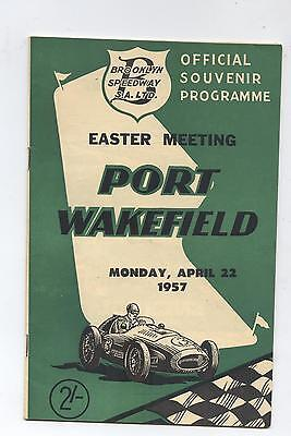 1957 Port Wakefield Programme Racing Touring Sports Motorcycle Car