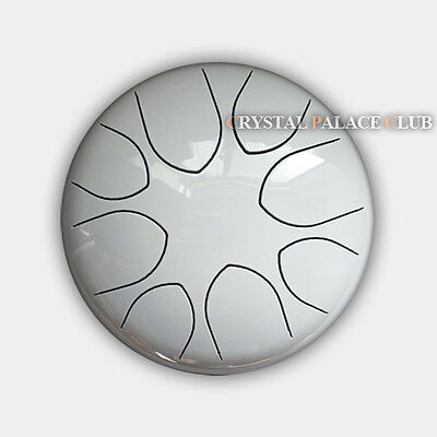 """8"""" Steel Tongue Drum/Handpan/Kong Drum(Bag included)-C Major Natural Scale White"""