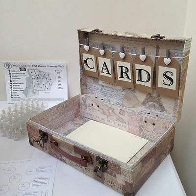 Vintage style wedding suitcase FOR HIRE,cards wishing well, post box,shabby chic