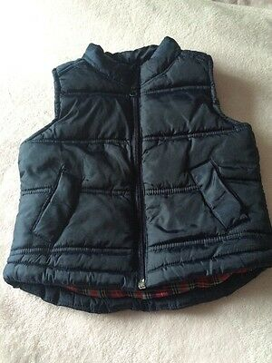 Boys Navy Padded Gilet Age 18-24months