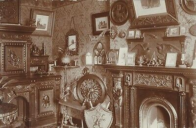 Social History, Interior Of Edwardian Parlour, Photo Postcard