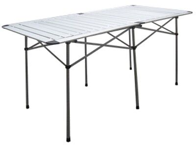 Aluminium Roll Up Slat Table 125 x 75 cm Outdoor Camping Garden BBQ Party Picnic