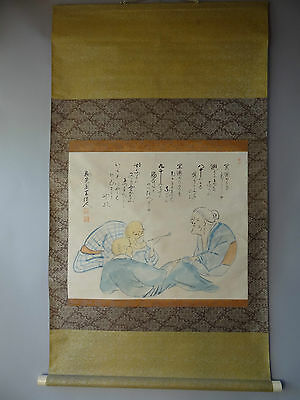 "Japanese hanging scroll Handpainted on Paper  ""Calligraphy"" w1212"