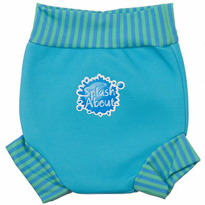 Splash About Happy Nappy 3-6-8 Months Baby Boys Medium Aqua Blue Swimming Pants