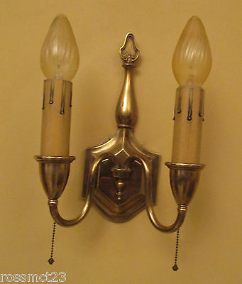 Vintage Lighting four matching Colonial Revival 1930 sconces