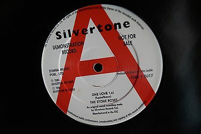 """The Stone Roses – One Love 12"""" Vinyl Demonstration Record"""