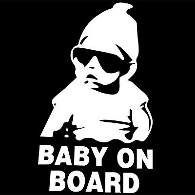 BABY ON BOARD Sticker Aufkleber Cool Hangover Baby Shocker Auto Car Decal Tuning