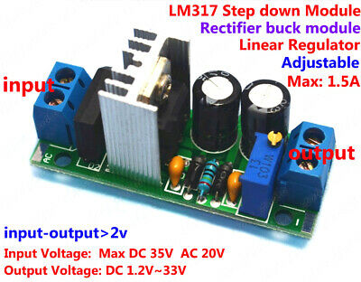 AC/DC to DC Converter Adjustable LM317 Voltage Regulator Step-down Module 5v 12v