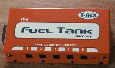 T-REX Fuel Tank Juicy Lucy 9-12v Power Supply Pedal 5 Isolated Outputs