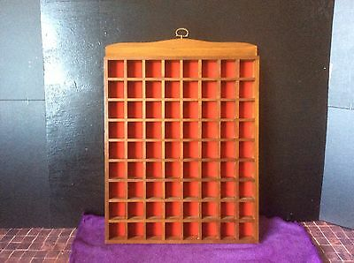 Thimble Display Tray,rack,holder.collectable.wood/red Felt.vgc. Combined P&p.