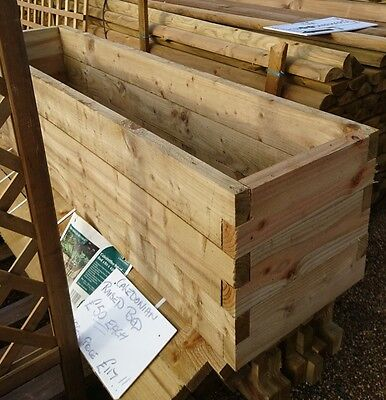 Forest Garden Caledonian Raised Bed 180 x 45cm Anti Rot Pressure Treated Wood