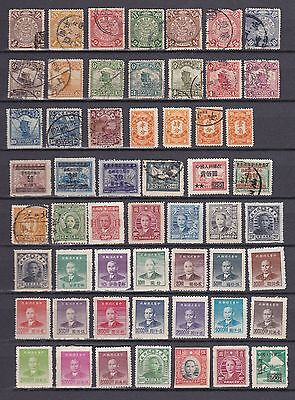 DRAGONS : Classic Lot with stamps China (with Dragons)