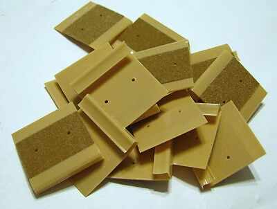 "Earring Cards CAMEL Flocked 1x1""  pack of 100 NOS"