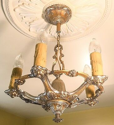 Antique Chandelier 1920s Art Nouveau