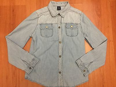 Outfitters Nation Girls Denim Fitted Shirt 10-11yrs XS