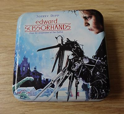 *MINT VERY RARE* Tim Burton Edward Scissorhands Promotional Playing Cards & Tin