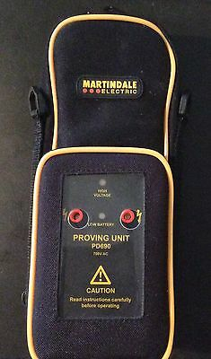 Martindale PD690 Proving Unit  with case/shoulder strap and instruction manual