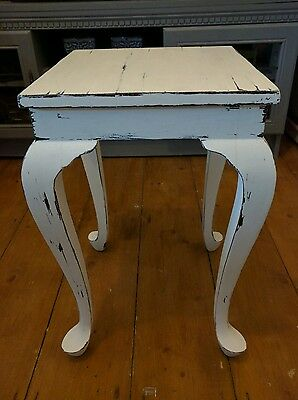 ** Shabby Chic Vintage Wooden End table painted with Chalk Paint & Distressed **