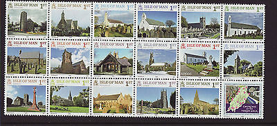 Isle of Man 2016 MNH - Churches of the Parish Walk - set of 18 stamps