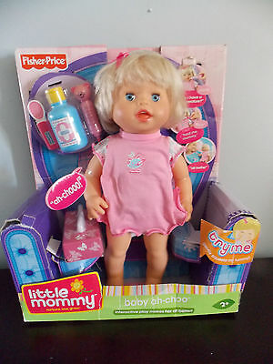 Fisher Price Little Mommy Baby Ah Choo Doll Sneezes Talks HTF NIB