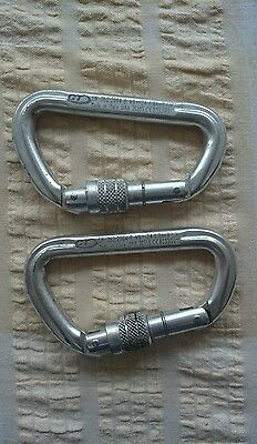 2x identical CT EN 362:2004-B Carabiner kN 24 Made in Italy used