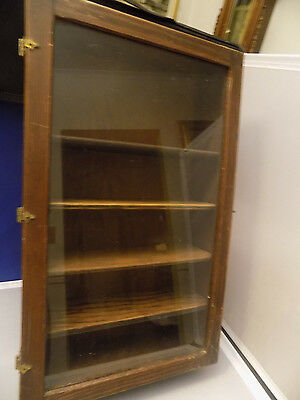 Antique Small Wooden Display  or Curio Cabinet- Dovetailed 9x15