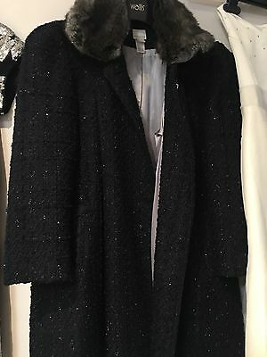 Girls Monsoon Coat Sz11-12 Occasion Or Christmas Party Coat