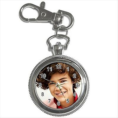 NEW* HOT HARRY STYLES ONE DIRECTION Silver Tone Key Chain Ring Watch Gift