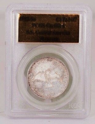 1853-So Chile 50 Centavos S.S. Central America Treasure PCGS Certified