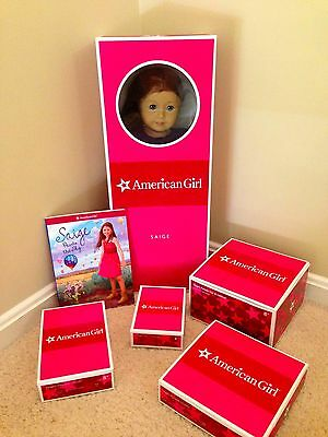 American Girl Saige Starter Collection Girl of the Year 2013 NIB - complete set
