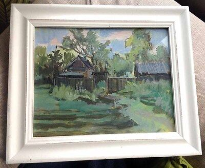 An Oil Painting of Garden in Summer Framed (1997) Artist Unknown