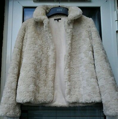 M&S Girls Autograph Faux fur CreamCoat Size 13-14 YRS
