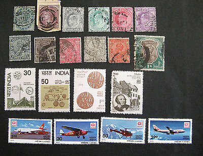 INDIA fine used and unmounted mint